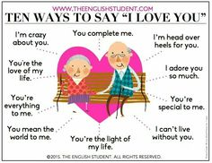 "10 Ways to Say ""I love you"" #Infographic #Infografía"