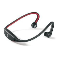 LT Black / Red Sports Bluetooth Neckband Wireless Headphones / Headset with Mic / Remote - For use with all Smartphones, Apple, iPod Touch, iPad, iPhone, Android, HTC, Samsung Galaxy, Skype, Blackberry and more.
