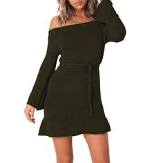 Arctic Cubic Long Sleeve High Mock Neck Abstract Contrast Color Colorblock Mini Bodycon Sweater Dress Black