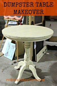 Dumpster Table Makeover.  Check out how to repair a Dumpster Found table with a wobbly base, then paint it! CeCe Caldwell's Cinco Bayou Moss and Myrtle Beach Sand.  Sealed with Endurance. REDOUXINTERIORS.COM FACEBOOK: REDOUXINTERIORS