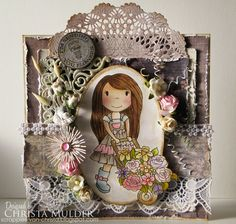 Christa's Scrappies: DT-Papernest Dolls Flower Cart Ellie- Spring Collectie