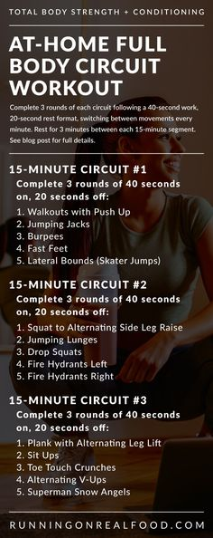This no-equipment HIIT workout involves 45 minutes of high-intensity circuit training broken into 3 segments, one focusing on abs, one on lower-body and one on cardio. You will need less than 1 hour to complete this workout. Hiit Workouts Running, Full Body Circuit Workout, 45 Minute Workout, Cardio Workout At Home, Dumbbell Workout, At Home Workouts, Food Workout, Lower Body Circuit, Circuit Workouts