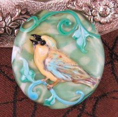 Kerri Fuhr - Sparrow Lampwork Focal Bead