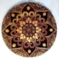 So pretty .makes me calm Mandala Design, Mandala Art, Mandala Painting, Dot Art Painting, Stone Painting, Painted Rocks, Hand Painted, Mandala Coloring, Pebble Art
