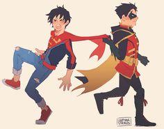 Superboy & Robin. Jonathan Kent & Damian Wayne.