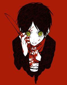 Bloody anime boy Guro Attack on Titan Eren