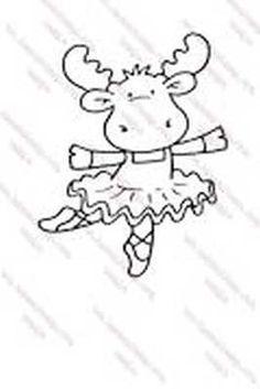 Hanna Stamps Moose Ballet Sophie