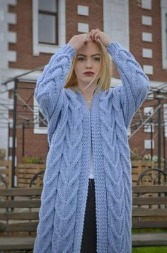 Women's cardigan Hand knit cardigan Oversized warm cardigan Oversized clothing Wool cardigan Cozy coat Knitted coat Gift for her Chunky knit Women's cardigan Hand knit cardigan Oversized warm Oversized Cardigan, Cardigan Sweaters For Women, Sweater Coats, Wool Cardigan, Cardigans For Women, Oversized Clothing, Women's Cardigans, Blue Cardigan, Sweater Knitting Patterns