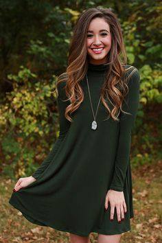 Pair this shift dress with cowboy boots for a country chic look, or pair it with heels or tall boots for a chic city look!