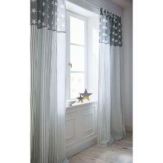 Vorhang Stars and Stripes, Schlaufenaufhängung, Baumwolle, ca. L250xB140 cm Vorderansicht