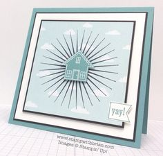 you brighten my day stampin up stamp set cards Welcome Home Cards, New Home Cards, Housewarming Card, Happy New Home, Some Cards, Tampons, Brighten Your Day, Homemade Cards, Stampin Up Cards