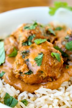 Chicken Tikka Masala Meatballs   TheFoodCharlatan.com // Indian spices plus a comforting meatball in creamy sauce...could it get any better?