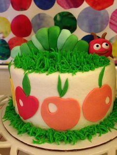 Very Hungry worm cake