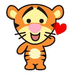 LINE Official Stickers - Heartwarming Winnie the Pooh Example with GIF Animation