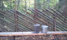 Fench made of hay stakes