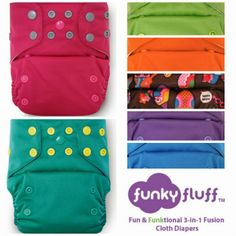 Let's Get Funky, Funky Fluff- A Cloth Diaper Review