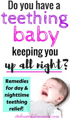 Teething baby remedies! All Natural teething remedies for babies! Is your baby up all night teething in pain? Look no more! Here are 12 all natural teething remedies for babies that will save your sanity! These remedies include both day and night time teething pain relief!! #teething #teethingbaby #teethingremedies #teethingrelief #baby #parenting #allnaturalremedies