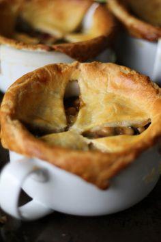 Pancetta, White Bean & Swiss Chard Pot Pies, a recipe from Smitten Kitchen http://www.roastedrootfood.com