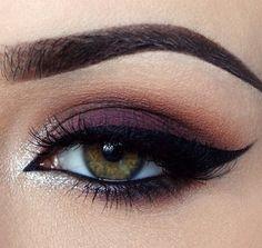 Purple cat eye. Great for green eyes