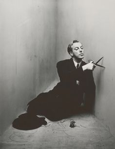 Jacques Fath (1912-1954) photographed by Irving Penn, 1948, New York. Jacques Fath was a french fashion designer.