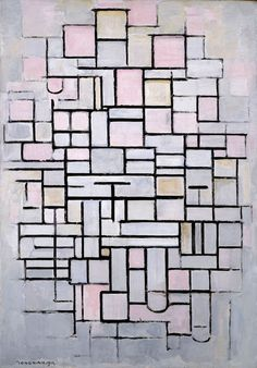 Piet Mondriaan, Compostion No. 6, 1914, oil on canvas