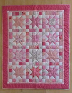 Heirloom pink stars BABY QUILT girl by ChickadeeWay on Etsy, $175.00 this quilt it amazing!!! I want it so much