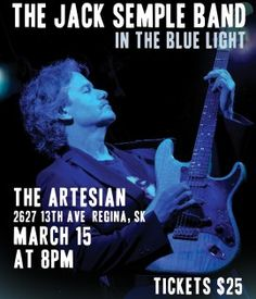 Who wants to come rock out with @jackBSemple at the @artesianon13th in #YQR on March 15th?