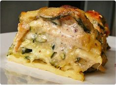 Lasagnes aux courgettes, notes italiennes