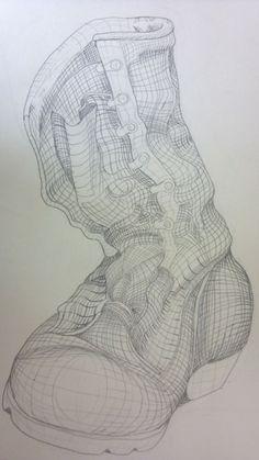 Cross Contour Line Drawing, Contour Line Art, Contour Drawings, Drawing Drawing, Ink Drawings, Drawing Lessons, Art Lessons, School Art Projects, School Ideas