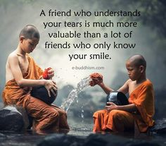 Friend tears and smile