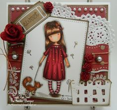 Handmade OOAK Cards by The Hoosier Stamper: NEW Gorjuss - The Pretend Friend Card