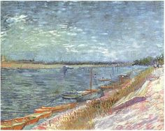 -View of a River with Rowing Boats-  Oil on Canvas_Paris: Spring, 1887_Private collection