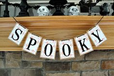 This SPOOKY Halloween Banner is sure to add a fun touch to any holiday décor! Each letter card measures 4.25 x 5.5 inches. Each white letter card is printed on using high quality archival ink which en