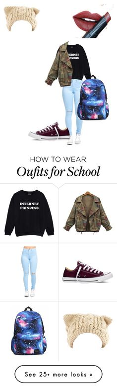 """School"" by ducky0514 on Polyvore featuring Converse and Fiebiger"