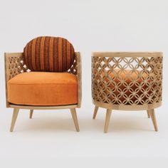 ENCANTADORA! A linha Arabesque da designer libanesa radicada em Londres, NADA DEBS Furniture & Design. Essas peças encontradas na Mondo Collection.