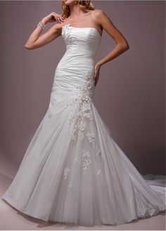 ELEGANT EXQUISITE TAFFETA TULLE MERMAID TRUMPET STRAPLESS WEDDING DRESS LACE BRIDESMAID PARTY COCKTAIL GOWN FORMAL BRIDAL