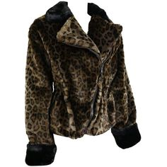 Preowned Nina Ricci Animal Leopard-print Faux Fur Coat ($793) ❤ liked on Polyvore featuring outerwear, coats, black, fake fur leopard coat, leopard print coats, faux fur collar coat, animal coat and leopard faux fur coat