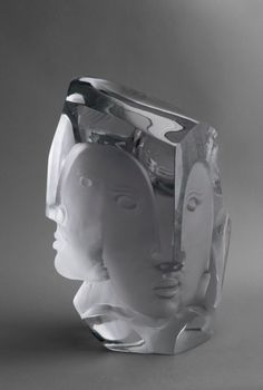 Oxygen, White Baccarat Crystal, 39 cm (Gilles Chabrier)