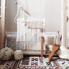 Weaving in the loom by Maryanne Moodie