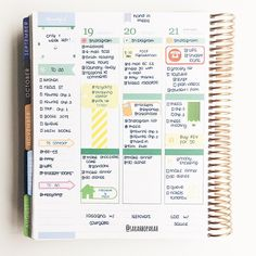 "sarahboparah: Midweek in my Erin Condren Life Planner. I call this my ""whatever sticker I had on hand"" week"