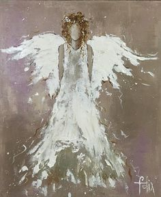 anita felix paintings - Love and angel blessings x Christmas Paintings, Christmas Art, I Believe In Angels, Angel Pictures, Angels Among Us, Angel Art, Painting Techniques, Painting Inspiration, Painting & Drawing