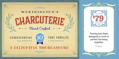 Charcuterie - Webfont & Desktop font « MyFonts :: a beautiful variety of typefaces here. Great Fonts, All Fonts, Fancy Fonts, Cursive Fonts, Serif Font, Sans Serif, Typography Letters, Typography Design, Harmony Design