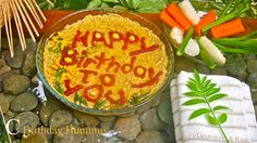 "Happy Birthday to You Hummus Surprise!  Presentation ideas for all occasions and takes only 15 minutes to prepare for as many people as you like.   Introduction:Part C Photo    ""Ok I know you may be thinking that I have crossed the line creating a birthd Here are some raw food recipes that you can use for breakfast or snacking. http://rawfoodprogram.com"