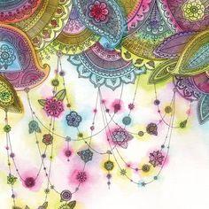 Bright, Pretty, Dewdrop Paisley Print