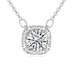 [$3.66] Zircon Necklace - Fantasy Princess (White 1-1445)