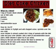 Diet coke chicken. Slimming world