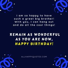 Birthday Wishes for Brother: try our tested surprise ideas and gift ideas now and send birthday wishes for brother, brother-in-law, younger brother and Happy Birthday To Brother, Happy Birthday Wishes, Reality Quotes, Happy Bday Wishes, Happy Birthday Greetings, Birthday Wishes Greetings, Birthday Wishes