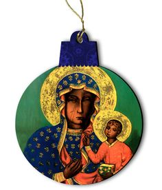 Our Lady of Czestochowa Wood Ornament - Catholic to the Max - Online Catholic Store