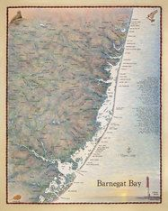 A Beautifully Illustrated Nautical Chart And Map Of Barnegat Bay And The Central Jersey Coast Barnegat Bay Jigsaw Puzzles Family Fun Time