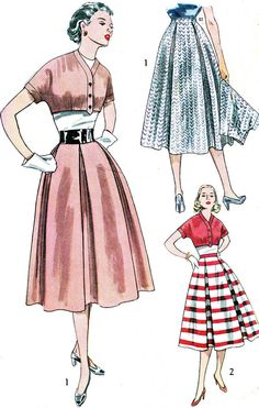 Vintage Sewing Pattern 1950s Simplicity 4178 Full by paneenjerez, $18.00